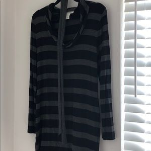 Black and grey tunic